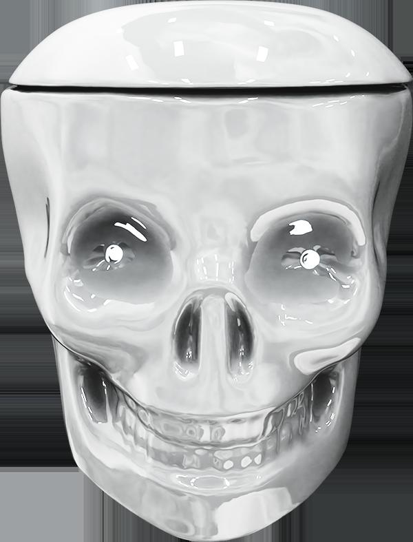wc tete de mort toilet skull